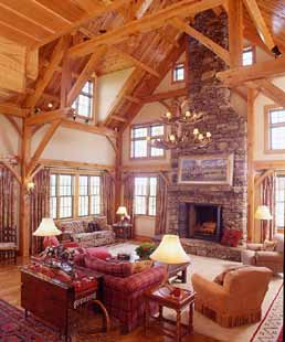 Oak Timber Frame Family Room Addition