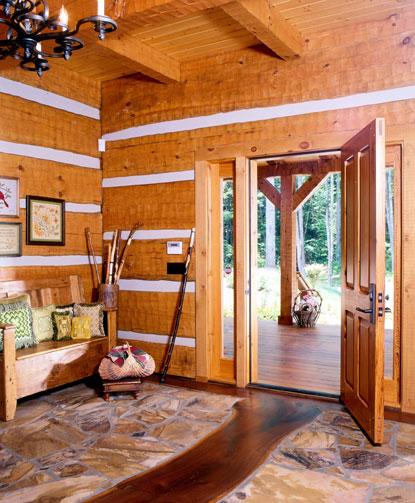Log Home Foyer : Articles hearthstone homes