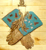 Beaded Native American Ceremonial Gloves