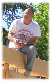 John on site at Whidbey Island in April 2004.