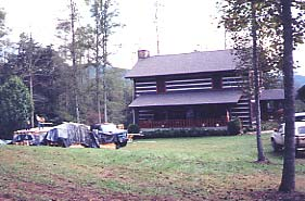 Front View of Existing Log Home