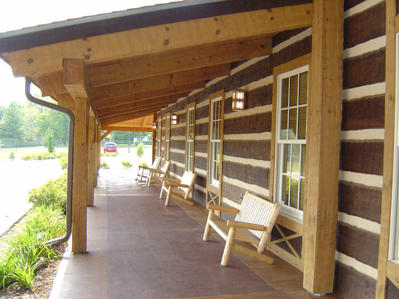 Hearthstone log and timber frame homes - Porch design ideas ...