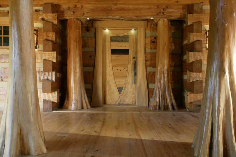 Hearthstone log and timber frame homes for Cypress porch columns