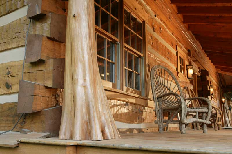 Hearthstone log and timber frame homes photo gallery for Cypress porch columns