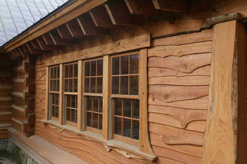 Hearthstone log and timber frame homes for Log home windows