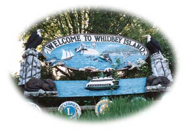 Entering Whidbey Island in beautiful Washington state.
